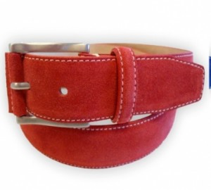 suede riem rood (Small)